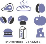 cool food icons  signs  vector...