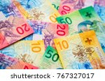 collection of the new swiss... | Shutterstock . vector #767327017