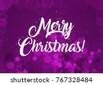 merry christmas wallpaper | Shutterstock . vector #767328484