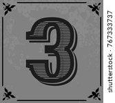font typeface alphabet vintage... | Shutterstock .eps vector #767333737