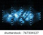 artificial deep neural network  ...   Shutterstock . vector #767334127
