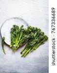 broccolini fresh broccoli... | Shutterstock . vector #767336689