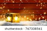 bright xmas star lantern... | Shutterstock . vector #767338561