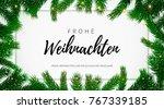 frohe weihnachten german merry...   Shutterstock .eps vector #767339185