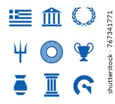 set of greek ancient icon vector | Shutterstock .eps vector #767341771
