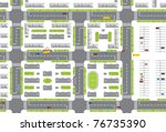 city plan | Shutterstock .eps vector #76735390
