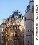 paris  france  on october 27 ... | Shutterstock . vector #767355625