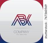 logo letter combinations a  b... | Shutterstock .eps vector #767360569