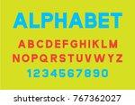 vector of modern font and... | Shutterstock .eps vector #767362027