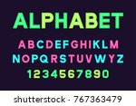 vector of poster font and... | Shutterstock .eps vector #767363479