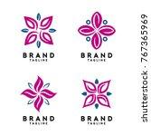 flower shape logo template... | Shutterstock .eps vector #767365969