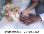 wedding moments and details | Shutterstock . vector #767368165