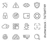 protection and security icons... | Shutterstock .eps vector #767369749