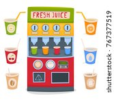 a vending machine for selling... | Shutterstock .eps vector #767377519