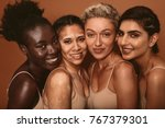 portrait of four young women... | Shutterstock . vector #767379301