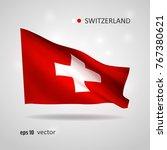 switzerland 3d style glowing... | Shutterstock .eps vector #767380621