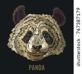 panda embroidery. fashion...   Shutterstock .eps vector #767387179