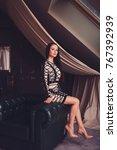 beautiful brunette woman in...   Shutterstock . vector #767392939