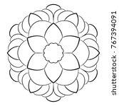 contour mandala for color book. ... | Shutterstock .eps vector #767394091
