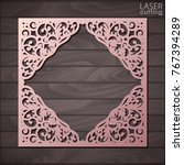 laser cut paper lace frame ... | Shutterstock .eps vector #767394289