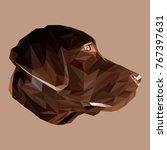 labrador retriever low poly...   Shutterstock .eps vector #767397631