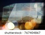 abstract business modern city... | Shutterstock . vector #767404867
