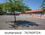 red school building | Shutterstock . vector #767409724
