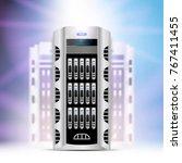 servers data center cloud... | Shutterstock .eps vector #767411455