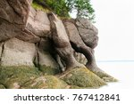 hopewell rocks   new brunswick  ... | Shutterstock . vector #767412841