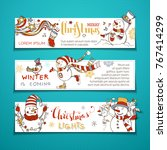 vector set of horizontal... | Shutterstock .eps vector #767414299