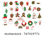 merry christmas icons | Shutterstock .eps vector #767419771