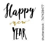 merry christmas happy new year... | Shutterstock .eps vector #767428477