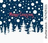 merry christmas. the poster... | Shutterstock .eps vector #767429221