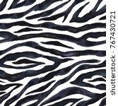 Black And White Zebra Striped...