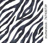 black and white zebra striped... | Shutterstock . vector #767430739