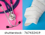 Medical Stethoscope And Tape O...