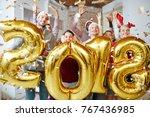 group of joyful companions...   Shutterstock . vector #767436985