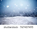 christmas and new year... | Shutterstock . vector #767437495