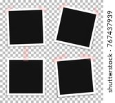 vector set of photo frame... | Shutterstock .eps vector #767437939
