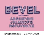 beveled typography design vector | Shutterstock .eps vector #767442925