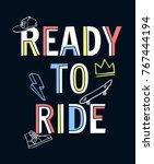 skateboarding t shirt design. ... | Shutterstock .eps vector #767444194