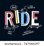 skateboarding t shirt design. ... | Shutterstock .eps vector #767444197