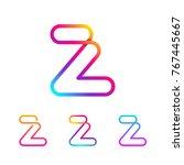 abstract letter z line monogram ...   Shutterstock .eps vector #767445667