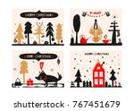 christmas a festive collection... | Shutterstock .eps vector #767451679
