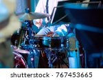 drums on stage. | Shutterstock . vector #767453665