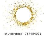 circle gold glitter splash... | Shutterstock . vector #767454031
