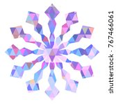 color snowflake for christmas... | Shutterstock .eps vector #767466061