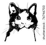 cat silhouette | Shutterstock . vector #76746703