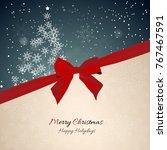 christmas celebration... | Shutterstock .eps vector #767467591