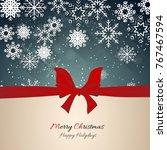 christmas celebration... | Shutterstock .eps vector #767467594